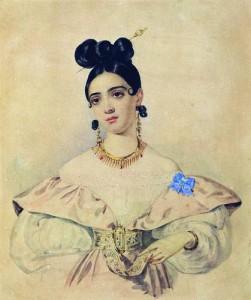 Акварель А. П. Брюллова, 1835—1838.