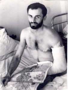 Ашот Бегларян в госпитале после ранения