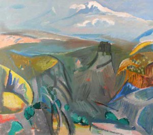 Фараон Мирзоян «Араратская долина. Вид из Бюракана»