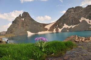 Горное озеро в горах Качкара