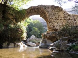 Мост в ущелье Унот. 1720г.