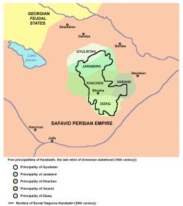 Пять меликств Карабаха - Гюлистан, Джраберд, Варанда, Хачен и Дизак