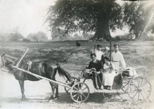 Семья винодельцев Агабальянцев на прогулке под Кизляром