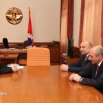 На приеме у Президента НКР Бако Саакяна