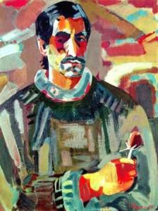 Минас Аветисян. Автопортрета с колючкой (1967)