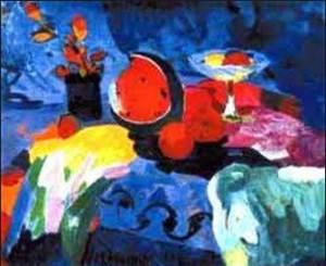 Минас Аветисян. Натюрморт с арбузом (1960)