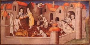 Прибытие братьев Поло в Айас, иллюстрация из книги Le Livre des Merveille (XV в.)
