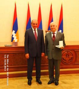 Президент НКР Бако Саакян и Рубен Осипов