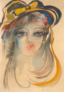 Липарит Егиазарян. Портрет девочки. 1986 г.