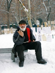 Художник Арто Яралян на вернисаже