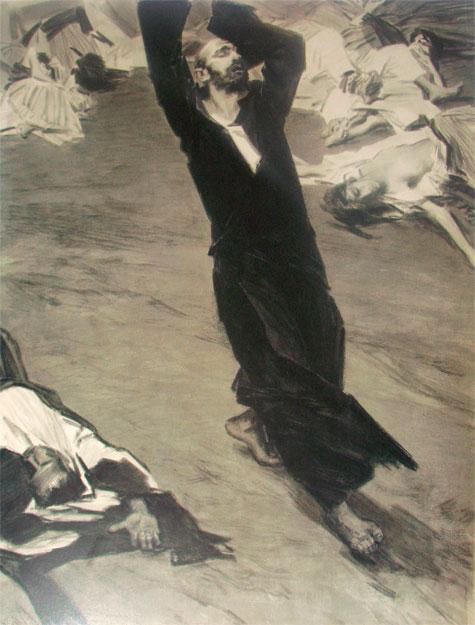 """Григор Ханджян. Иллюстрация к """"Несмолкаемой колокольне"""" Паруйра Севака"""