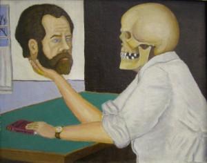 Марк Рыжков. Автопортрет с черепом