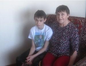 Исаев Виталий с опекуном Галиной Фёдоровной Хватковой
