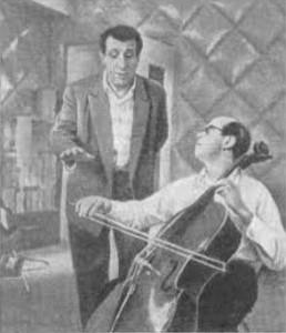 Арно Бабаджанян с Мстиславом Ростроповичем