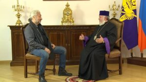 Стас Намин и Католикос Всех Армян Гарегин II. Фото сайта stasnamincentre.timepad.ru