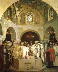 Фреска «Крещение князя Владимира». В. М. Васнецов Владимирский собор (Киев) (конец 1880-х)
